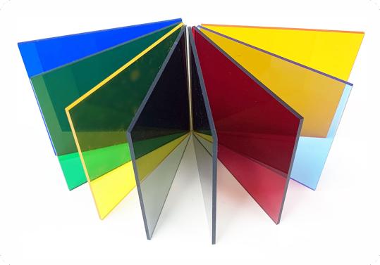 نمونه ورق پلکسی گلاس در کاتالوگ رنگ برش لیزری